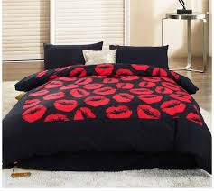 designer bed sets kiss red and black bedding set twin queen king