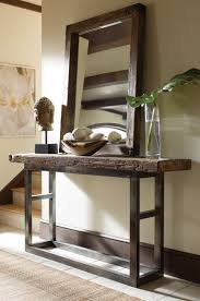 wood and metal console table wood and metal console table bliss mix of new and olde world