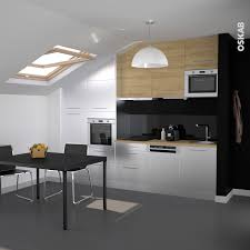 cuisine sous pente cuisine design inox et bois galerie et cuisine sous pente