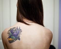 means everything bird on back shoulder