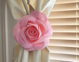 Curtain Tie Backs For Nursery Nursery Decor Two Dahlia Flower Curtain Tie Backs Curtain