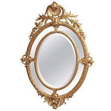 Mirrors For Sale Antique French Double Oval Gold Leaf Mirror For Sale At 1stdibs
