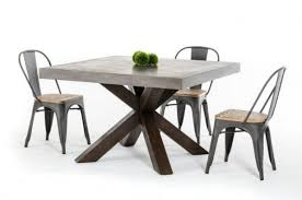 concrete top dining table square light gray concrete top dining table using brown wooden based