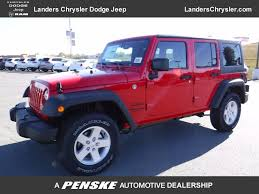 2017 New Jeep Wrangler Unlimited Sport 4x4 At Landers Serving