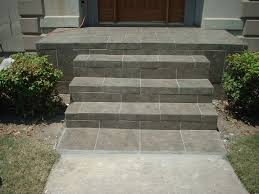 Front Entrance Landscaping Ideas Exteriors Striking Front Concrete Stairs Design Ideas Presenting