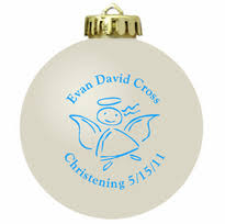 personalized baptism ornament baptism favors
