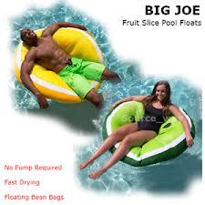 large fruit slice pool bean bag chair float u0026 lounger watermelon