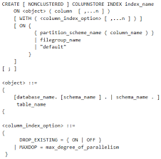 sql server create table syntax columnstore index in sql server sql shack articles about