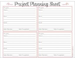 5 images of printable project planner template perfect planner