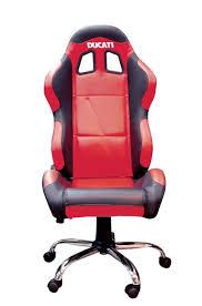 fauteuil ducati siège baquet paddock noir accessoires