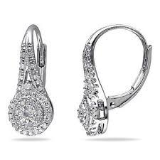 leverback diamond earrings diamond leverback earrings ebay