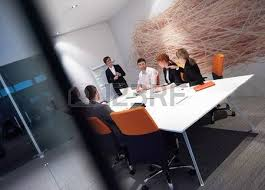 business with adults and senior on meeting