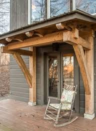 Front Door Awnings Wood Is Our Project Too Modest For A Blog Metal Roof Metals And Lights