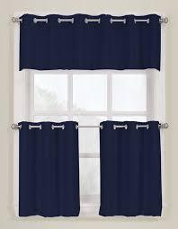 Navy Curtain Montego Slide Style Grommet Curtains Navy Lichtenberg