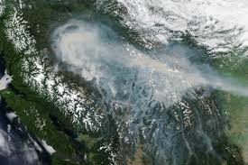Alberta Wildfire Satellite Images by Forest Fires Blanket British Columbia With Smoke Natural Hazards