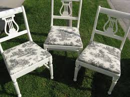 Build Dining Room Chairs Diy Vintage Chairs Toile Fabric Eclectic Dining Room Los