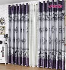 Purple Curtains Living Room Eco Friendly Polyester Thick Insulated And Thermal Chinese Style
