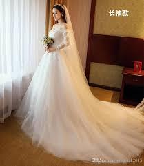 korean wedding dress discount 2017 new word shoulder wedding dress sleeves