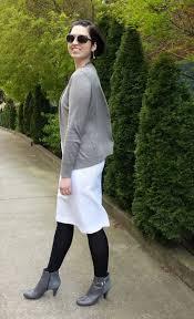 pinspiration white dress grey booties black tights