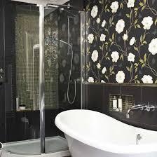 bathroom with wallpaper ideas bathroom design ideas seashell vinyl wallpaper designs for bathroom