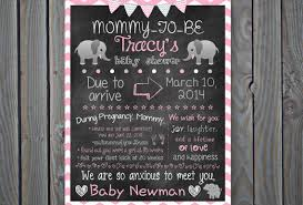 baby shower chalkboard items similar to custom printable baby shower chalkboard poster