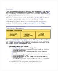 sample development plan template for download