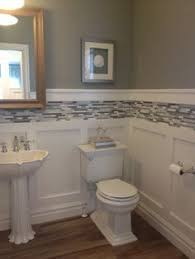 wainscoting ideas for bathrooms beautiful how to cover bathroom tile with wainscoting 15 on home
