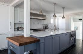 white kitchen cabinets with blue island 27 blue kitchen ideas pictures of decor paint cabinet