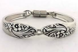 silver antique bracelet images Extra small spoon bracelet evening star 1950 silverware jewelry jpg