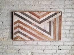 reclaimed wood wall wall decor abstract chevron geometric