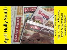 weekly ad review thanksgiving sales aldi save a lot