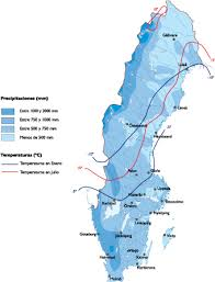 map of sweden sweden climate map order and sweden climate map made