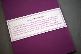 in memory of wedding program a k s colorful letterpress wedding invitations