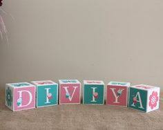 custom baby name blocks butterfly nursery decor personalise baby
