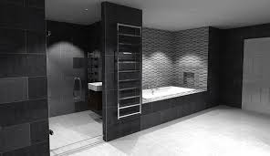 modern small bathroom designs with creative wall art and high