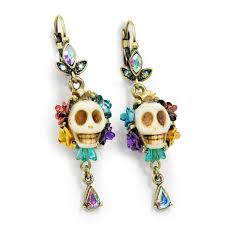 amazon com bone sugar skull earrings day of the dead mexican