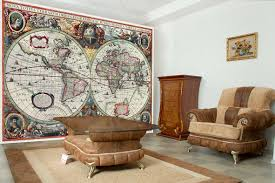 antique world map 16th century vintage photo wallpaper wall mural