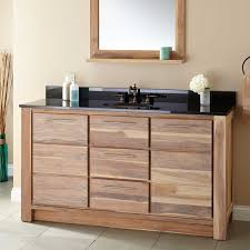 60 venica teak single vanity for undermount sink whitewash