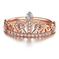 diana rose gold princess crown ring u2013 blush and bar
