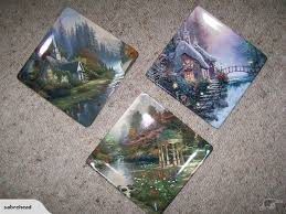 bradford exchange plates the forest chapel the sweetheart
