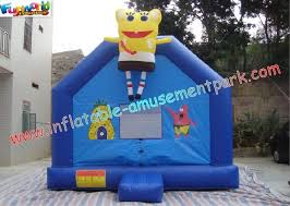 spongebob small inflatables commercial bouncy castles has two