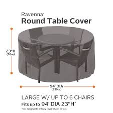 Patio Table Cover Classic Accessories Ravenna Patio Table And Chair Cover