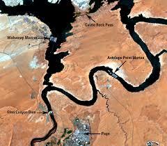 Antelope Canyon Arizona Map by Lake Powell Utah And Arizona Usa Earthshots Satellite Images