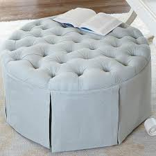 Tufted Storage Ottoman Ballard Designs Hayes Round Tufted Storage Ottoman My Style