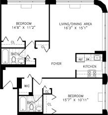 Small Apartment Floor Plans One Bedroom 27 Best Floor Plans One Br Apt Images On Pinterest Apartment