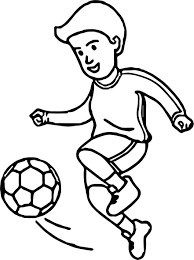 soccer cartoon playing football coloring page wecoloringpage