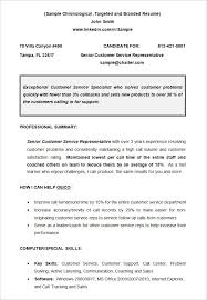 Examples Of Customer Service Resume by Chronological Resume Template 23 Free Samples Examples Format