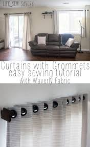 curtains with grommets tutorial with waverly fabric life sew savory