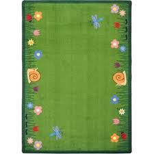 Green Kids Rug Floral U0026 Plant Kids U0027 Rugs You U0027ll Love Wayfair