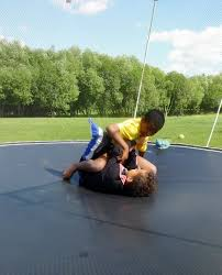 backyard wrestling on trampoline outdoor furniture design and ideas